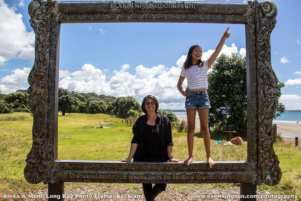 Alexa with Mum at Long Bay Photo Frame, Auckland