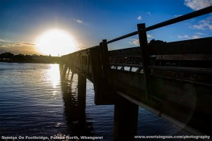 Sunrise by Footbridge Pataua North, Whangarei